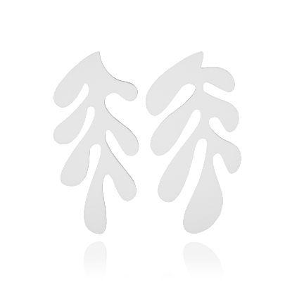 تصویر گوشواره سفید ۳ ل جرب هنری ماتیس