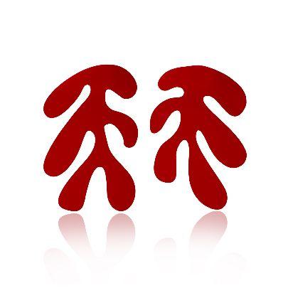 تصویر گوشواره قرمز ۴ ل جرب هنری ماتیس