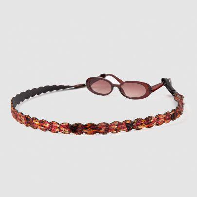 تصویر بند عینک ترمه قرمز