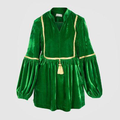 Picture of green velvet long sleeve