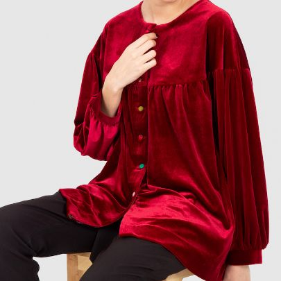 Picture of red velvet long sleeve