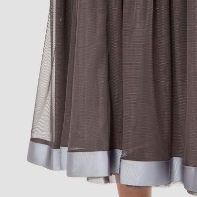 Picture of lace skirt with silver grosgrain ribbon