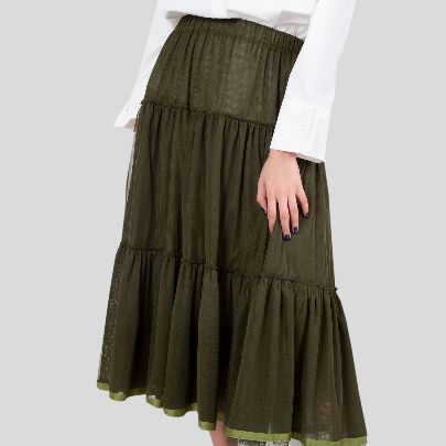 Picture of green lace skirt
