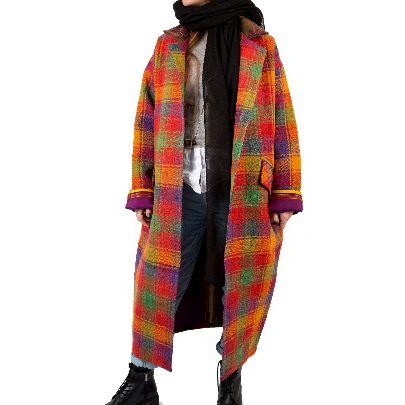 Picture of mehrnoush shahhoseini multiple colour overcoat