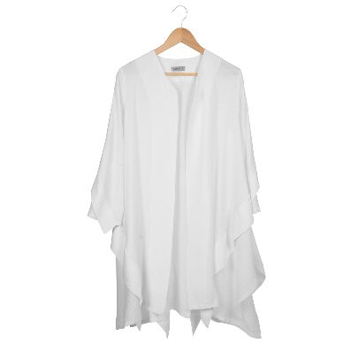 Picture of white v-neck manteau