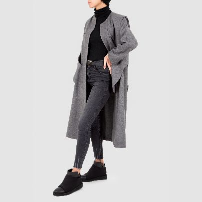 Picture of grey backless coat