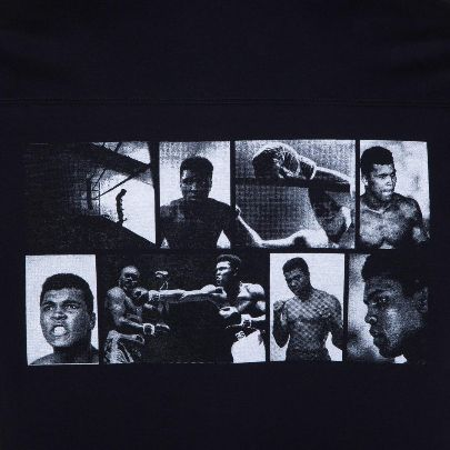Picture of black back pictorial t-shirt