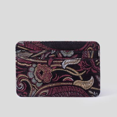 Picture of black cashmere card holder