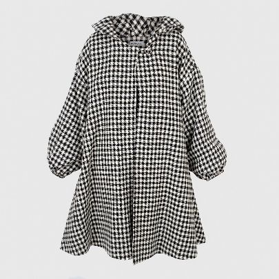 Picture of plaid overcoat
