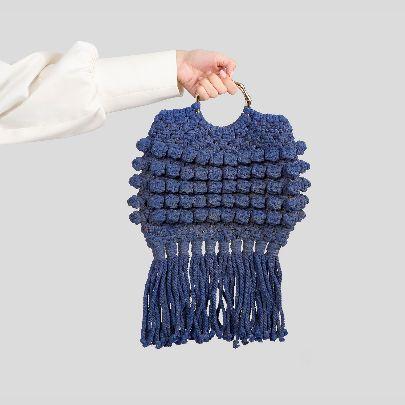 Picture of blue fish handbag