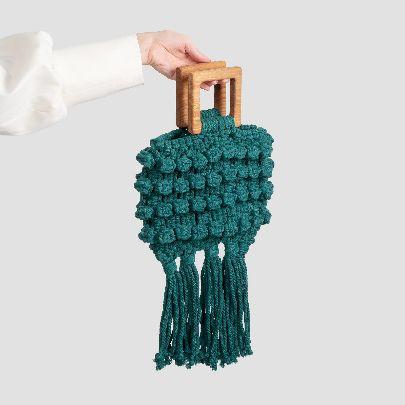 Picture of green fish handbag