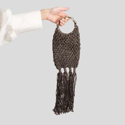 Picture of grey fish handbag