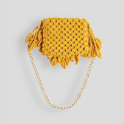 Picture of mustard wave handbag
