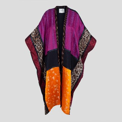 Picture of purple & orange mantua