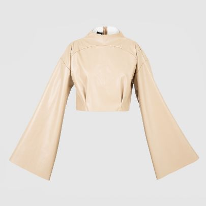 Picture of beige leather blouse
