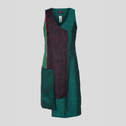 Picture of green silk dress