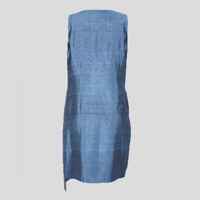 Picture of blue silk dress