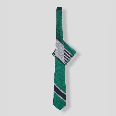 Picture of green silk tie