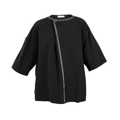 Picture of black long sleeve with white lines