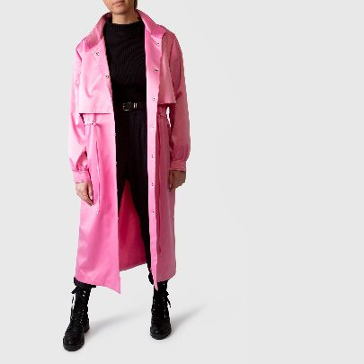 Picture of trench pink coat