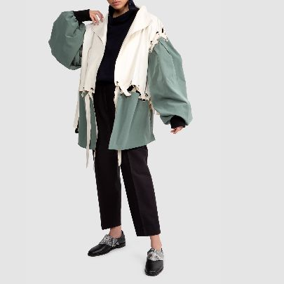Picture of peux peche green and white jacket
