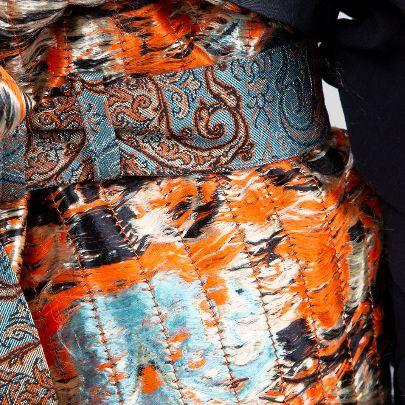 Picture of blue high waist wide termeh belt