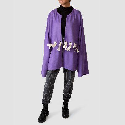Picture of purple suede kimono