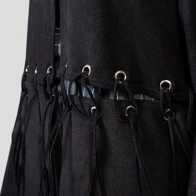 Picture of black suede kimono