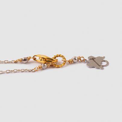 تصویر گردنبند نقاب طلایی با زنجیر طلایی