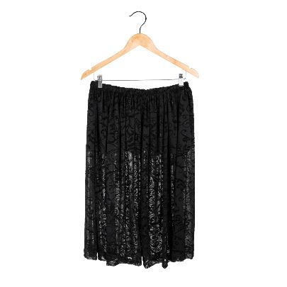 Picture of black lace skirt