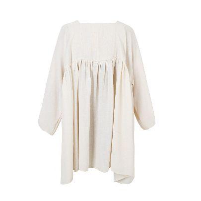 Picture of crep short beige dress