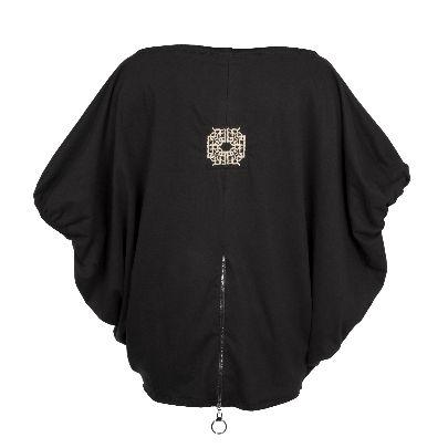 Picture of solmaz mahjobifard black shirt