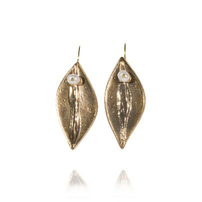 Picture of banafsheh saberi golden leaf earrings