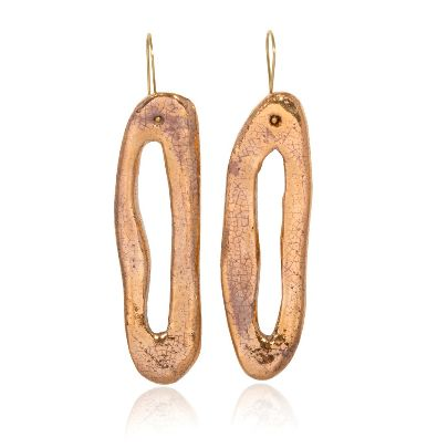 Picture of banafsheh saberi golden circle earrings