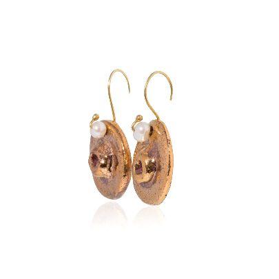 Picture of banafsheh saberi golden earrings