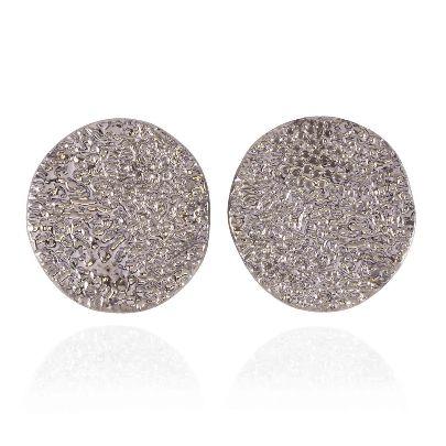Picture of banafshe saberi medallion silver earrings