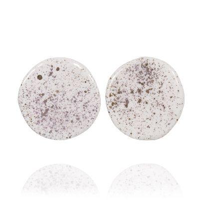 Picture of banafsheh saberi white galaxy earrings