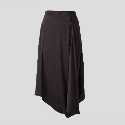 Picture of black buttoned skirt
