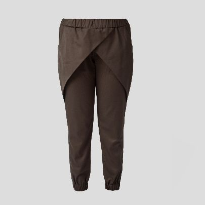 Picture of dark green cross pants