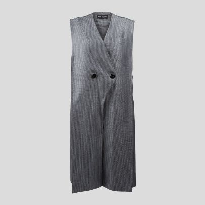 Picture of grey long vest