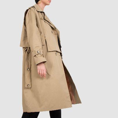 Picture of cream large raincoat