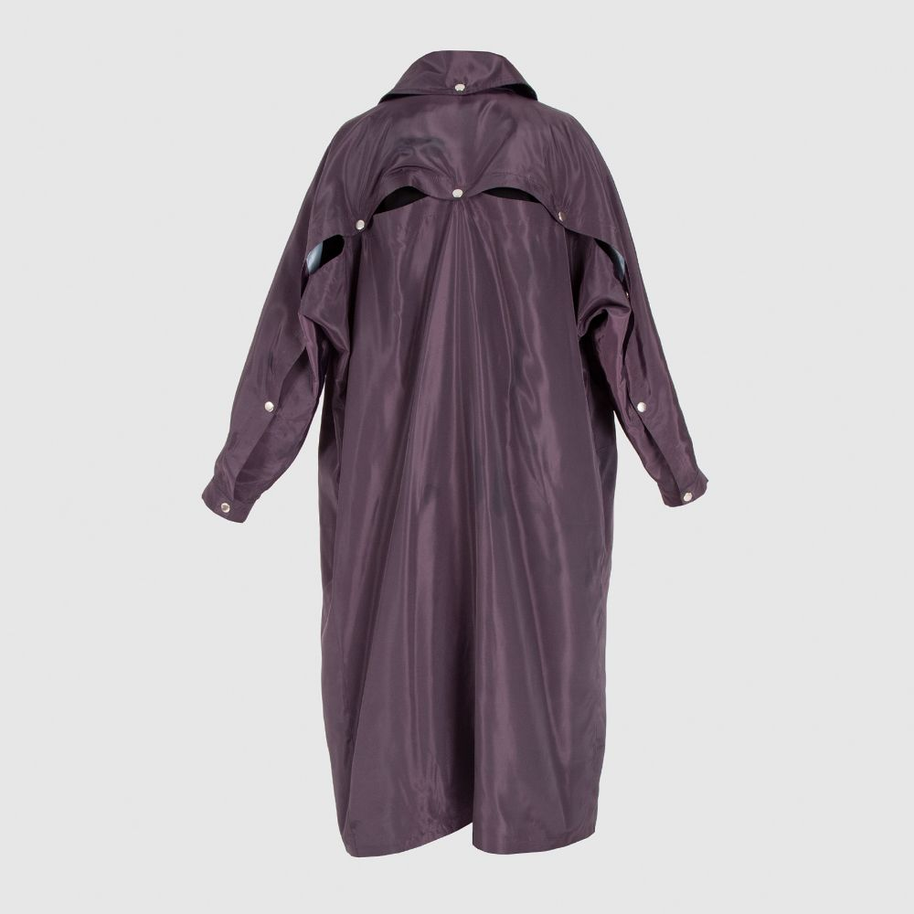 Picture of purple raincoat