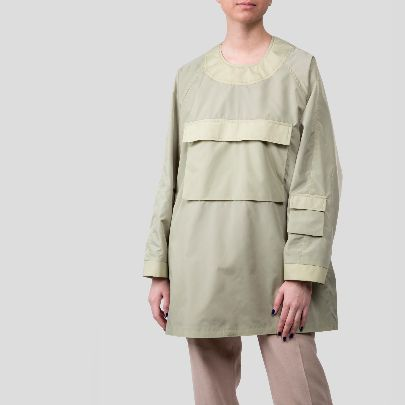Picture of light green raincoat