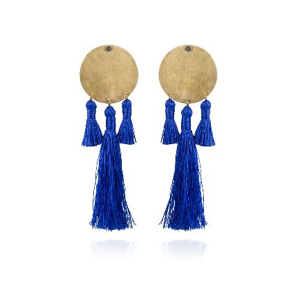 Picture of blue earrings