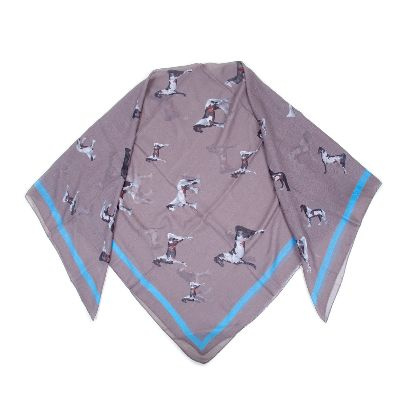 Picture of grey horse scarf