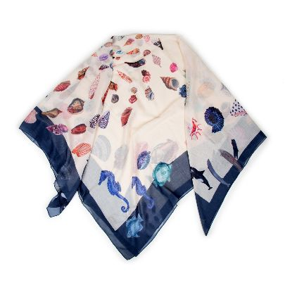 Picture of deep sea creatures scarf