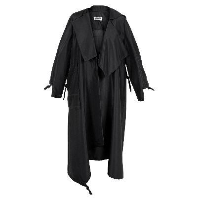 Picture of long black raincoat