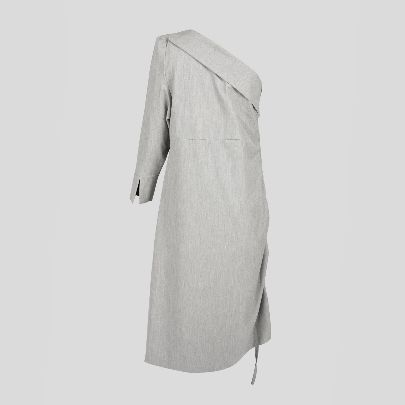 Picture of long grey dress
