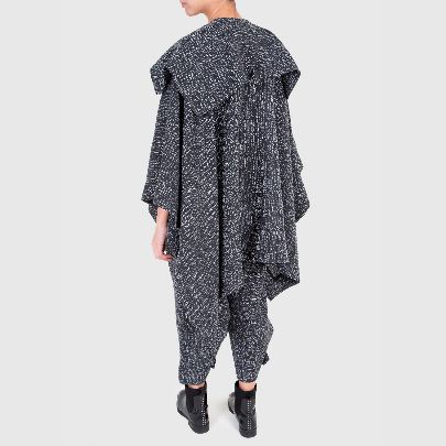 Picture of grey poncho and pant set