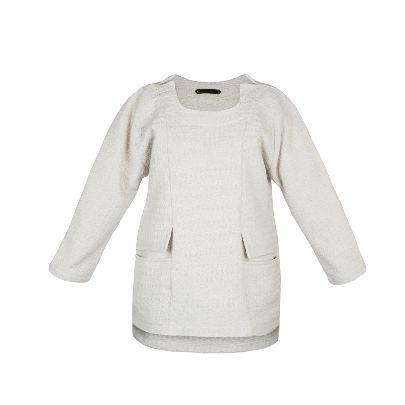 تصویر آستین بلند سفید روله د ساین